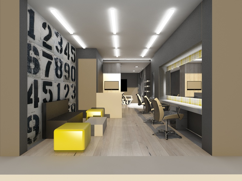 salon in Zografou area, Athens | Beauty salons | Projects | Interior ...